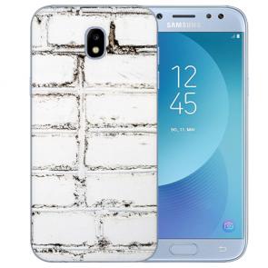 Samsung Galaxy J3 (2017) Silikon TPU Hülle mit Fotodruck Weiße Mauer