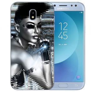 Samsung Galaxy J3 (2017) Silikon TPU Hülle mit Fotodruck Robot Girl