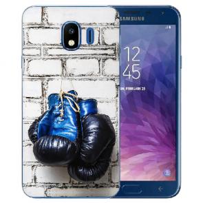 Samsung Galaxy J4 (2018) Silikon TPU Hülle mit Fotodruck Boxhandschuhe