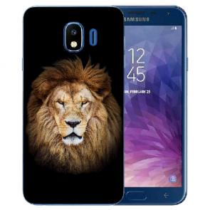 Samsung Galaxy J4 (2018) Silikon TPU Schutzhülle mit Löwe Fotodruck