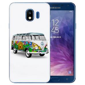 Samsung Galaxy J4 (2018) Silikon TPU Hülle mit Fotodruck Hippie Bus