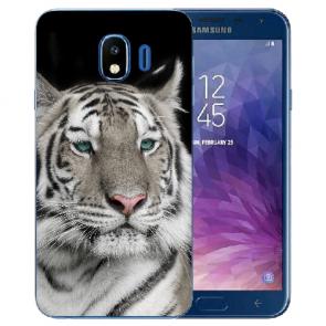 Samsung Galaxy J4 (2018) Silikon TPU Schutzhülle mit Tiger Fotodruck