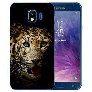 Schutzhülle Samsung Galaxy J4 (2018) Silikon TPU mit Leopard Bilddruck