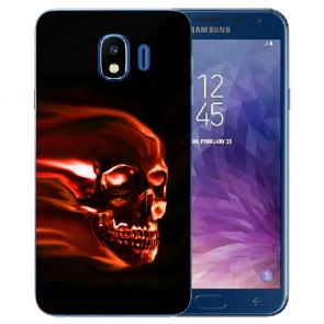 Samsung Galaxy J4 (2018) TPU Silikon Hülle mit Fotodruck Totenschädel