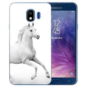 Samsung Galaxy J4 (2018) Silikon TPU Schutzhülle mit Pferd Bilddruck