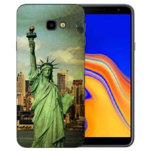 Samsung Galaxy J4 + (2018) Silikon Hülle mit Fotodruck Freiheitsstatue