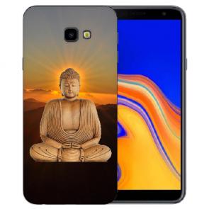 Samsung Galaxy J4 + (2018) Silikon Hülle mit Fotodruck Frieden buddha