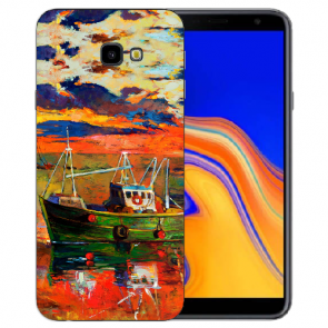 Samsung Galaxy J4 Plus (2018) Silikon Hülle mit Fotodruck Gemälde