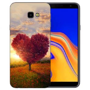 Samsung Galaxy J4 Plus (2018) Silikon Hülle mit Fotodruck Herzbaum