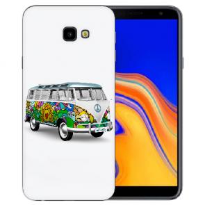 Samsung Galaxy J4 Plus (2018) Silikon Hülle mit Fotodruck Hippie Bus