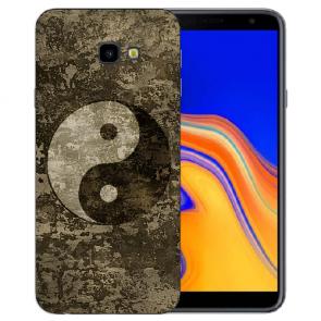 Samsung Galaxy J4 Plus (2018) Silikon Hülle mit Fotodruck Yin Yang