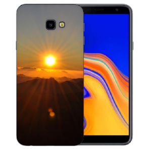 Samsung Galaxy J4 Plus (2018) Silikon Hülle mit Fotodruck Sonnenaufgang