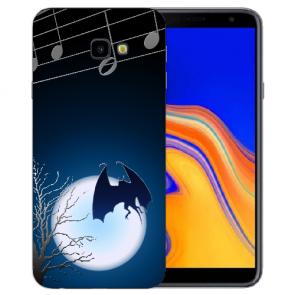 Samsung Galaxy J4 + (2018) Silikon Hülle mit Fotodruck Fledermaus-mond