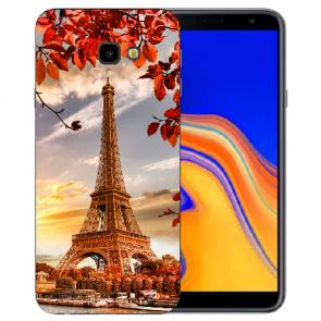 Samsung Galaxy J4 Plus (2018) Silikon Hülle mit Fotodruck Eiffelturm