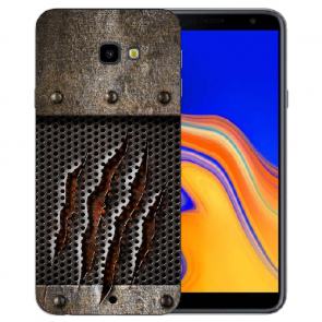 Samsung Galaxy J4 Plus (2018) Silikon Hülle mit Fotodruck Monster-Kralle