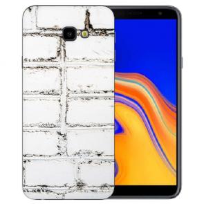 Samsung Galaxy J4 + (2018) Silikon Hülle mit Fotodruck Weiße Mauer