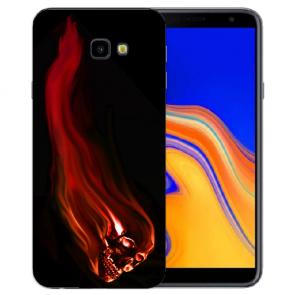 Samsung Galaxy J4 Plus (2018) Silikon Hülle mit Fotodruck Totenschädel