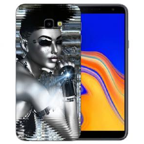 Samsung Galaxy J4 Plus (2018) Silikon Hülle mit Fotodruck Robot Girl