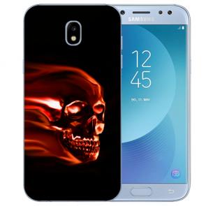 Samsung Galaxy J5 (2017) Silikon Hülle mit Fotodruck Totenschädel