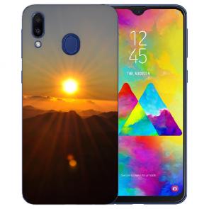 Samsung Galaxy M20 Silikon TPU Hülle mit Fotodruck Sonnenaufgang
