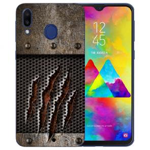 Samsung Galaxy M20 Silikon TPU Hülle mit Monster-Kralle Fotodruck Etui