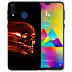 Silikon TPU Hülle mit Fotodruck Totenschädel für Samsung Galaxy M20