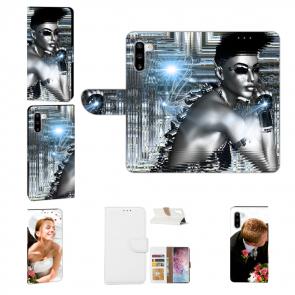 Samsung Galaxy Note 10 Handy Hülle mit Fotodruck Robot Girl