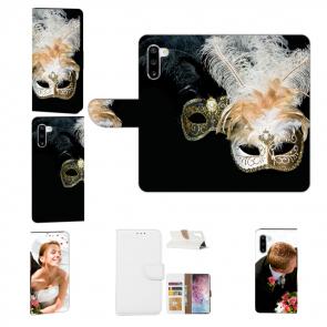 Handy Hülle mit Fotodruck Venedig Maske für Samsung Galaxy Note 10 Etui