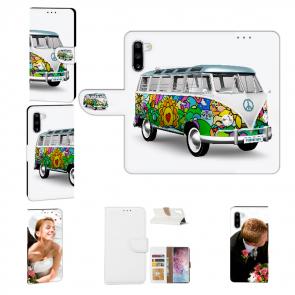 Handy Hülle mit Fotodruck Hippie Bus für Samsung Galaxy Note 10 Etui