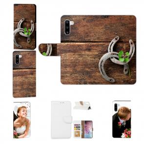 Samsung Galaxy Note 10 Handyhülle mit Fotodruck Holz hufeisen Etui