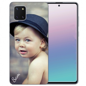 Samsung Galaxy Note 10 lite Silikon Schutzhülle TPU Case mit Foto Bilddruck