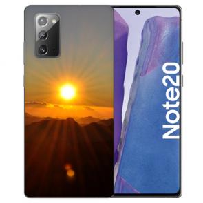 Samsung Galaxy Note 20 TPU Silikon Hülle mit Bilddruck Sonnenaufgang
