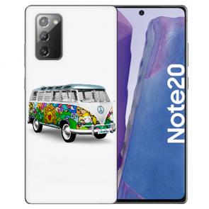 Samsung Galaxy Note 20 TPU Silikon Hülle mit Bilddruck Hippie Bus