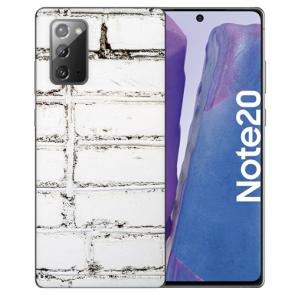 Samsung Galaxy Note 20 Silikon TPU Hülle mit Bilddruck Weiße Mauer