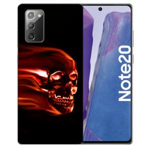 Samsung Galaxy Note 20 TPU Silikon Hülle mit Bilddruck Totenschädel