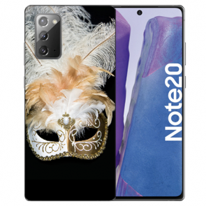 Samsung Galaxy Note 20 TPU Silikon Hülle mit Bilddruck Venedig Maske