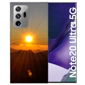 Samsung Galaxy Note 20 Ultra Silikon Hülle mit Bilddruck Sonnenaufgang