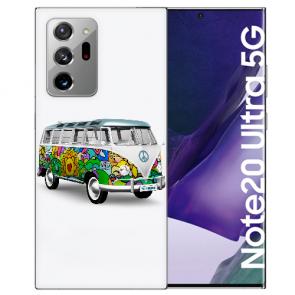 Samsung Galaxy Note 20 Ultra Silikon Hülle mit Bilddruck Hippie Bus