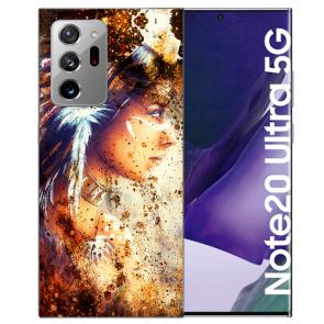 Samsung Galaxy Note 20 Ultra TPU Hülle mit Bilddruck Indianerin Porträt