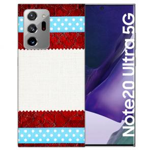 Samsung Galaxy Note 20 Ultra Silikon TPU Hülle mit Bilddruck Muster