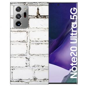Samsung Galaxy Note 20 Ultra Silikon TPU Hülle mit Bilddruck Weiße Mauer