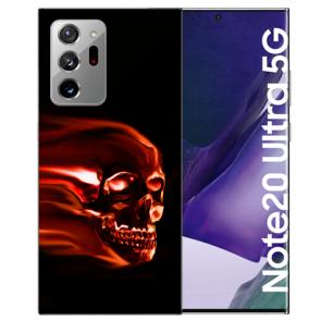 Samsung Galaxy Note 20 Ultra Silikon Hülle mit Bilddruck Totenschädel