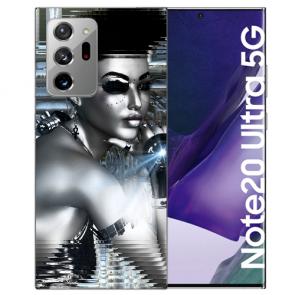 Samsung Galaxy Note 20 Ultra Silikon TPU Hülle mit Bilddruck Robot Girl
