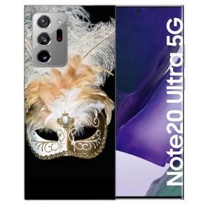 Samsung Galaxy Note 20 Ultra Silikon Hülle mit Bilddruck Venedig Maske