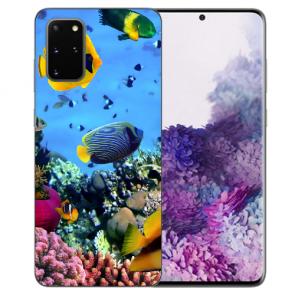 Samsung Galaxy S10 Lite Silikon Hülle mit Korallenfische Fotodruck Etui