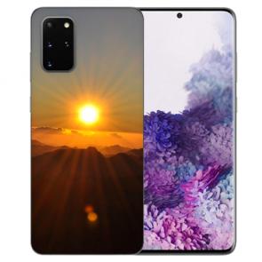 Samsung Galaxy A91 Silikon TPU Hülle mit Bilddruck Sonnenaufgang