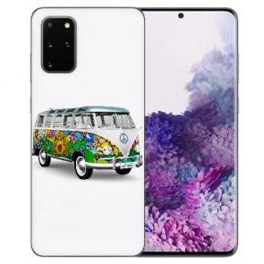 Silikon TPU Hülle mit Hippie Bus Bilddruck für Samsung Galaxy S20 Etui