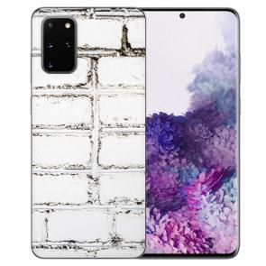 Samsung Galaxy A91 Silikon TPU Hülle mit Bilddruck Weiße Mauer Etui