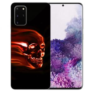Silikon TPU Hülle mit Totenschädel Fotodruck für Samsung Galaxy S20 Etui