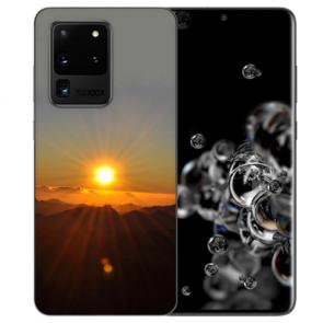Samsung Galaxy S20 Ultra Silikon Hülle mit Bilddruck Sonnenaufgang